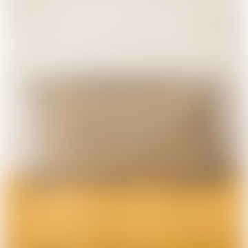 40 x 60cm Mustard Linen Varanasi Printed Cushion Cover