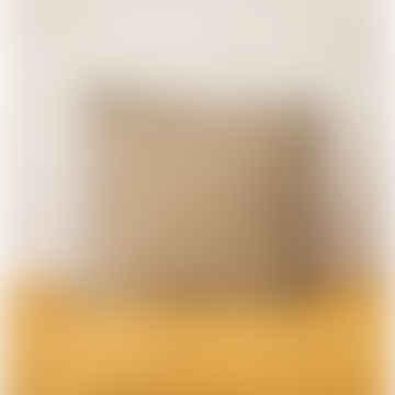 45 x 45cm Mustard Linen Varanasi Printed Cushion Cover