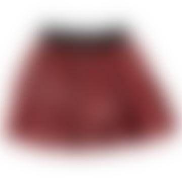Piupiuchick 6 Years Strawberry Velvet Pleated Skirt