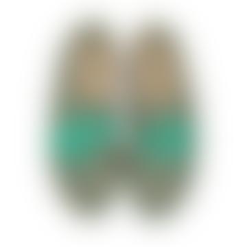 Anniel Large Green Verg Canvas Palms Shoes