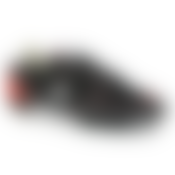 Black and Red Bi Material Race OG Sneakers