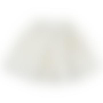 6 to 8 Years Off White Raw Degas Skirt
