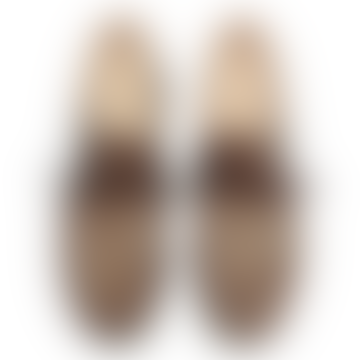 Brown Michael Rabbit Fur Derbies Shoes