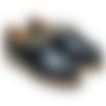 Navy Blue Michael Derbies Shoes