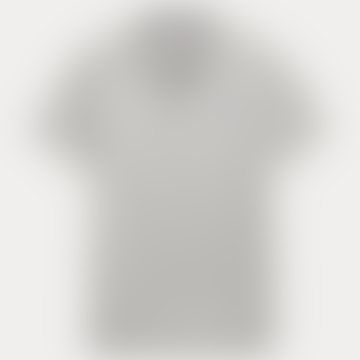 Grey Cotton Fitted Pique Polo T Shirt