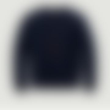 Navy Blue Sweatshirt with Large Logo