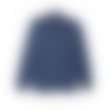 Oliver Spencer Navy Blue Micro Houndstooth Clerkenwell Shirt