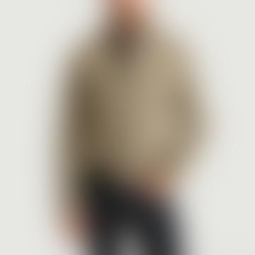 Oliver Spencer Brown Wool and Houndstooth Pattern Bomber Jacket