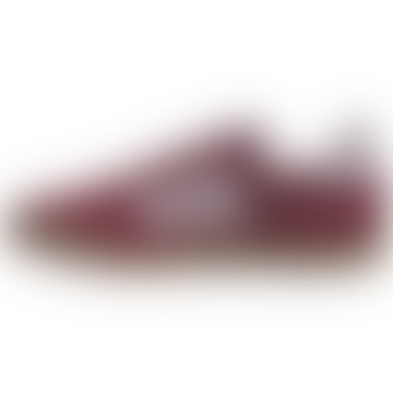 Burgundy and White EF9177 Super Collegiate Indoor Shoes