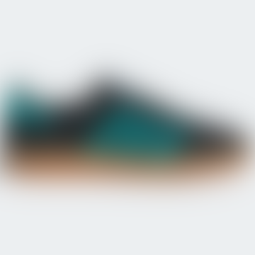 Black and Aqua EE5732 Gazelle Indoor Shoes