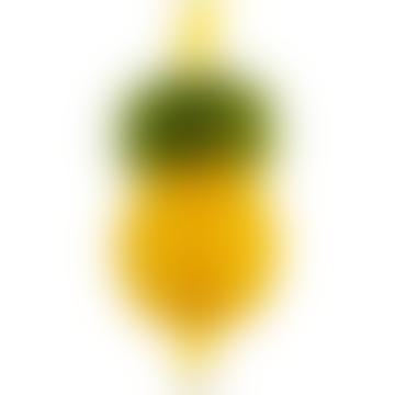 Set of 12 Yellow Pineapple Straws