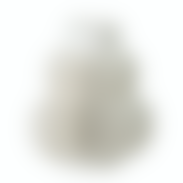 Ribbed White Stoneware Vase