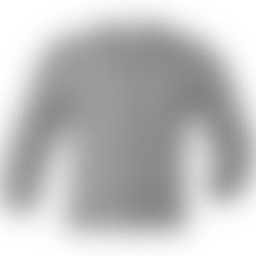 Light Gray Wool and Silk Melange Baby Cardigan