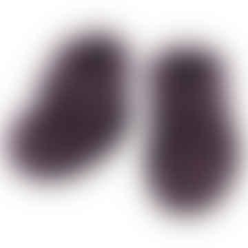 Purple Melange Wool Fleece Baby Shoes
