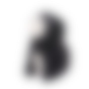 Figurine de chien Beagle en bois noir mat