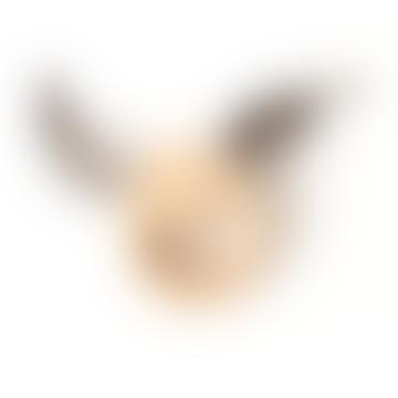 Mielasiela Gray Wooden Rattle