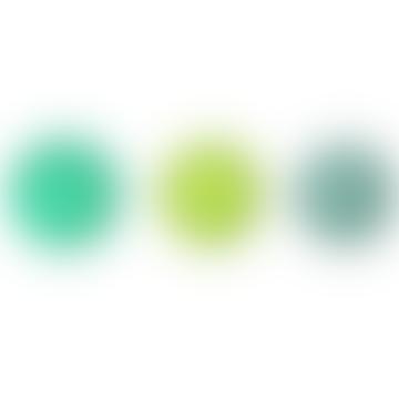 Set of 3 Small Green Dots Coat Rack