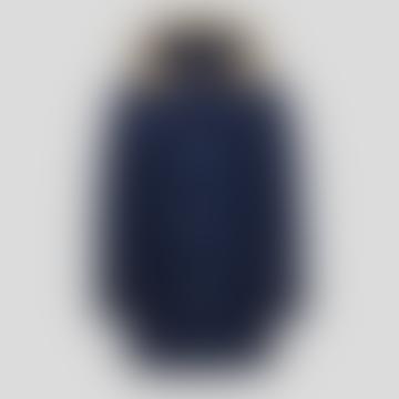 Melton Blue Detachable Fur Arctic Parka