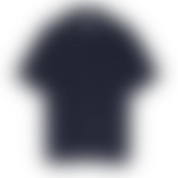 Revere Collar Shirt in Navy