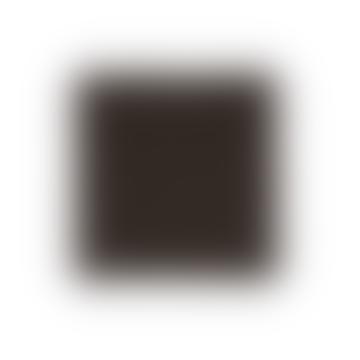 45 × 45cm Ensemble de 4 serviettes de table en coton noir