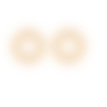 Circle Post Earrings - Gold Plating