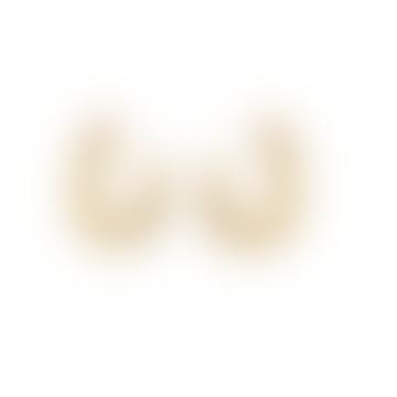 Pebble Cut Earrings - Gold Plating