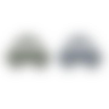 Geo Teether 2 Pack Car Faune Green/Blue Wave