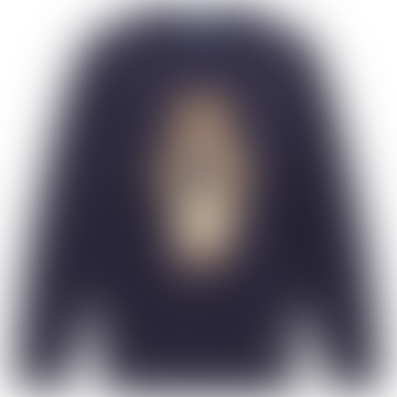 Polo Ralph Lauren Casual Bear Intarsia Crew Knit Navy