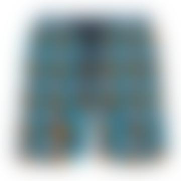 Vilebrequin Moorea Swim Short Turtles Stars Azul Marino