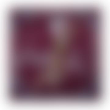Tres Brillante Bordeaux Silk Square Scarf