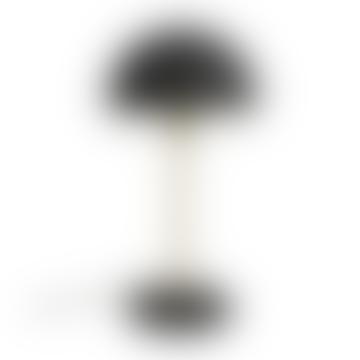 Present Time Black Bonnet Table Lamp