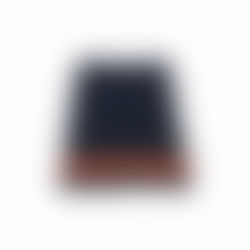 Navy Blue Ribbed Knit Skirt