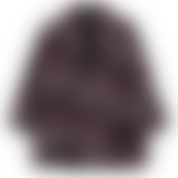 ange  Black and Plum Marta Plaid Coat