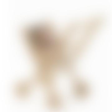 Ecru Nasturtium Fantine Wooden Stroller
