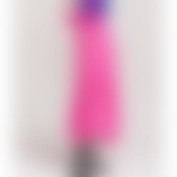 Neon Pink Vadorable Polka Dot Midi Skirt