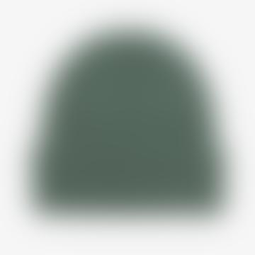Merino Wool Beanie Smaragdgrün