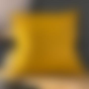 50 x 50cm Mustard Yellow Cotton Cushion