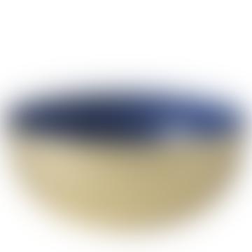 Bol émaillé moyen en laiton et couleur