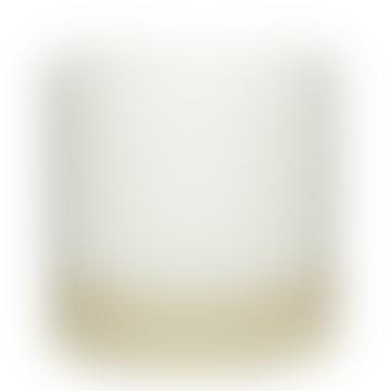 Small Fine White and Sand Ceramic Planter