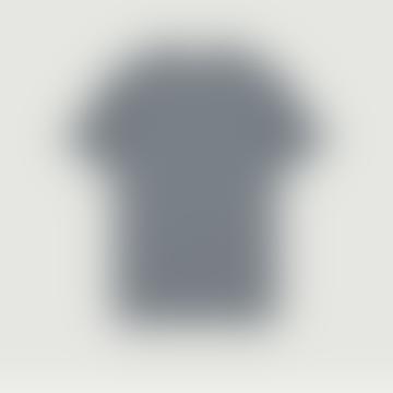 YMC Blue Ecru Striped Wild Ones T Shirt
