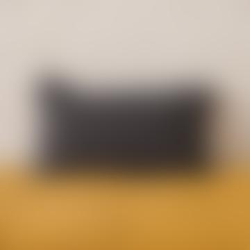 Balakata 30 x 50cm Carbon Grey Linen Cushion Cover