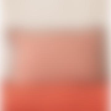 40 x 60cm Red Linen Jaipur Printed Cushion Cover