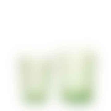 Van Verre Handmade Fleur de Lys Glass in Green size S
