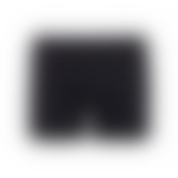 Plain Black Boxer-Slips aus Bio-Baumwolle, tiefschwarz