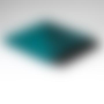 Tropical Turquoise Green Reversible Soft Merino Wool Throw
