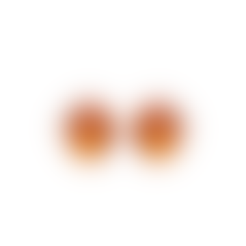 Monies Hailey Clip On Earrings Orange Polyester