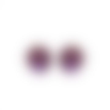 Monies Hailey Clip On Earrings Purple Polyester