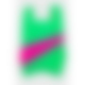 Medium Greenscreen and Pink Shopping Bag