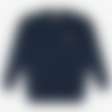 Tenby Starfish Embroidered Sweatshirt Navy