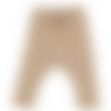 Creamy Nougat Baby Girl Modal Pointelle Rib Pants